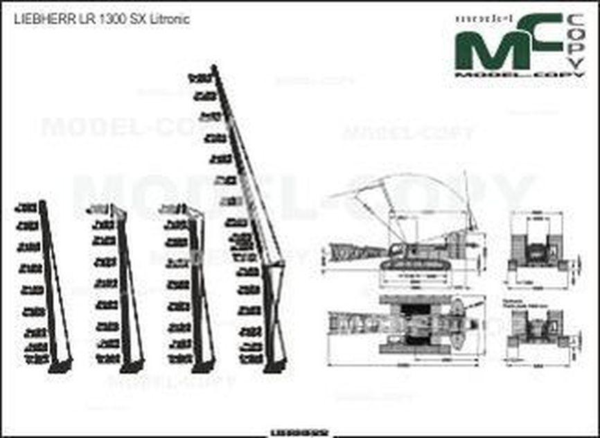 LIEBHERR LR 1300 SX - 2D drawing (blueprints)