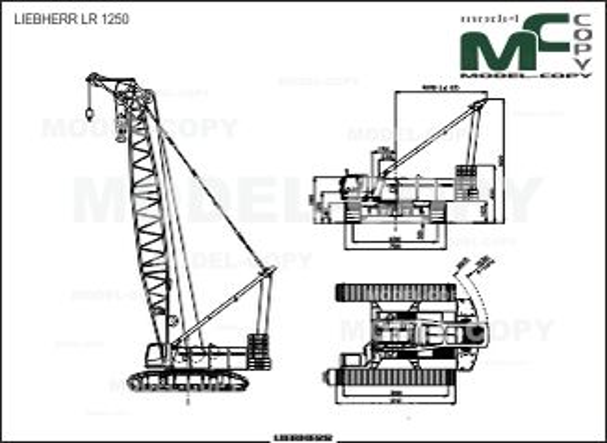 LIEBHERR LR 1250 - 2D drawing (blueprints)