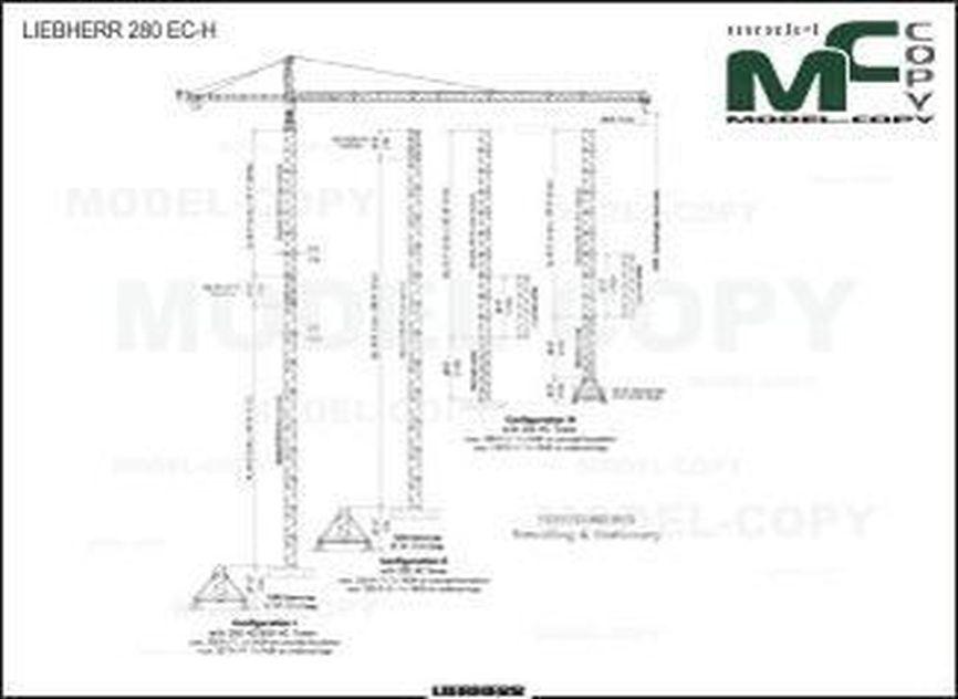 LIEBHERR 280 EC-H - 2D drawing (blueprints)