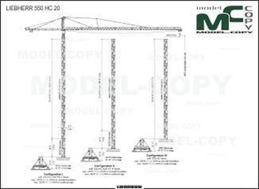 LIEBHERR 550 HC 20 - 2D drawing (blueprints)