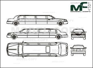 Lincoln Town Car Limousine Long '1998 - drawing