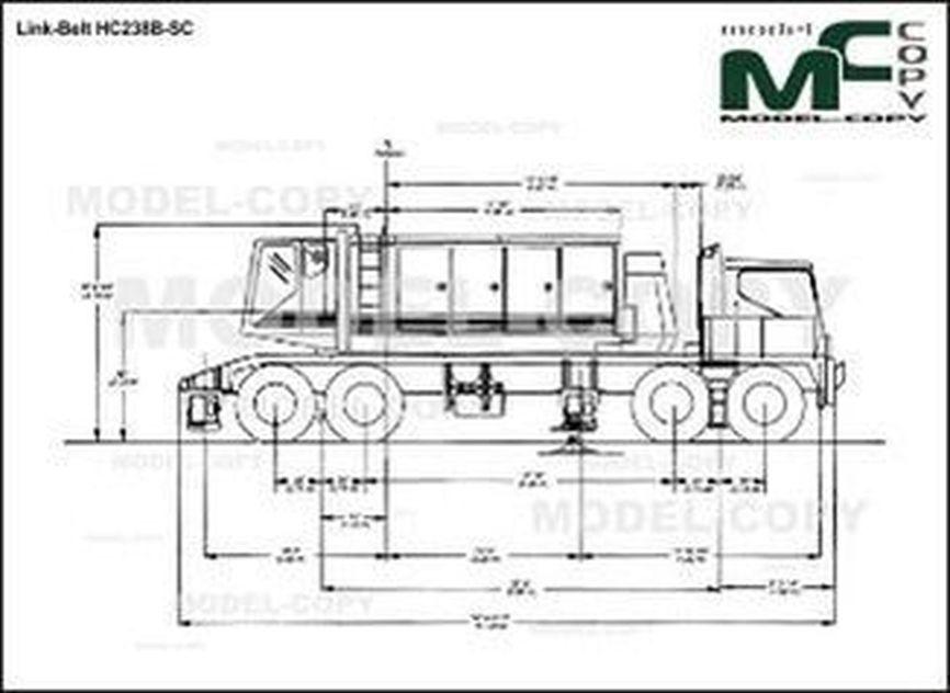 Link-Belt HC238B-SC - drawing