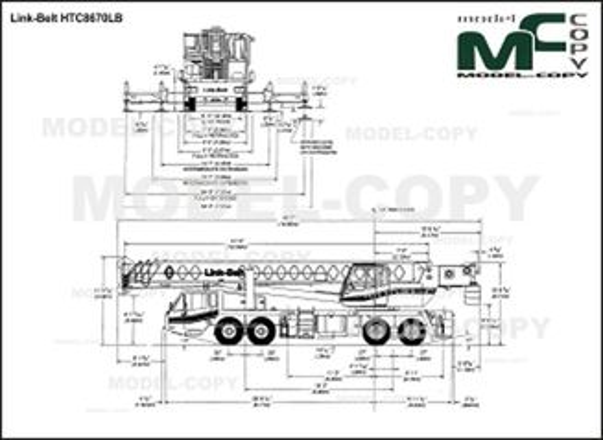 Link-Belt HTC8670LB - 2Δ σχέδιο