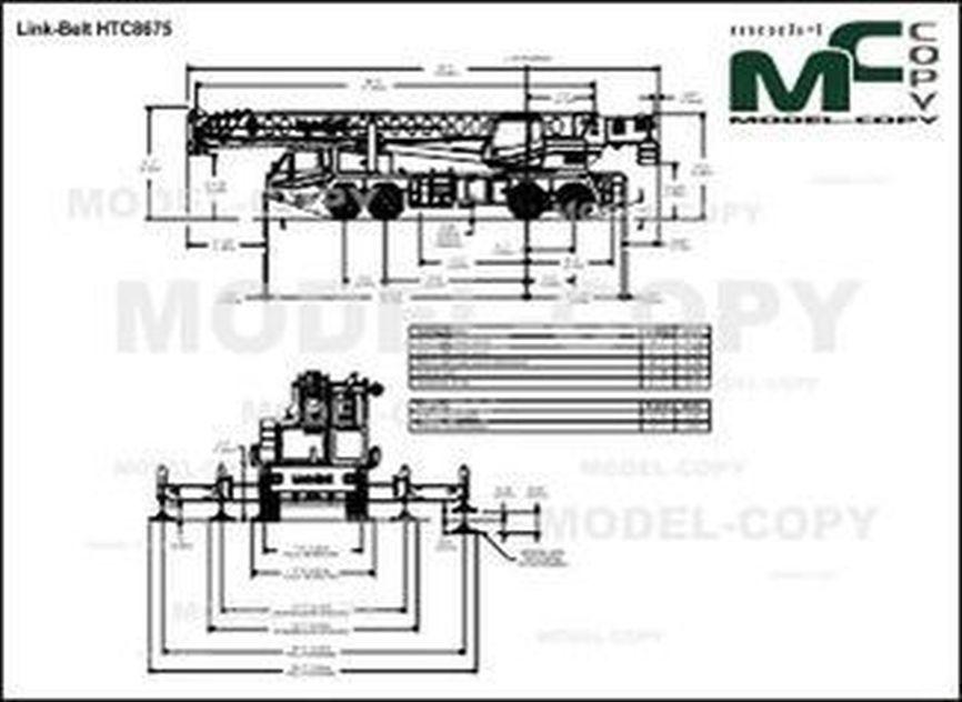 Link-Belt HTC8675 - drawing