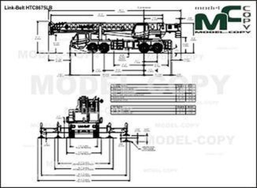 Link-Belt HTC8675LB - drawing
