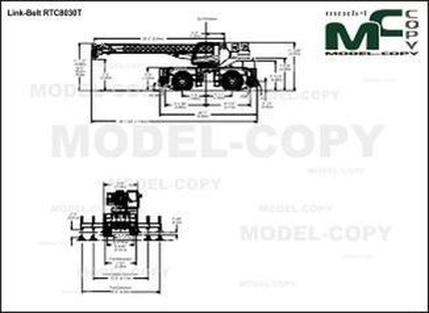 Link-Belt RTC8030T - 2D výkres