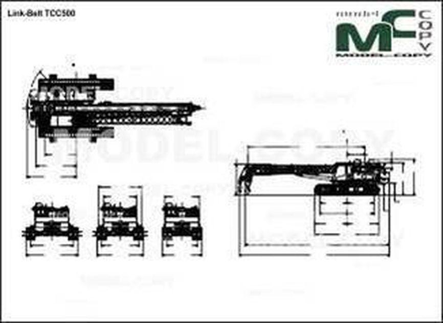 Link-Belt TCС500 - drawing