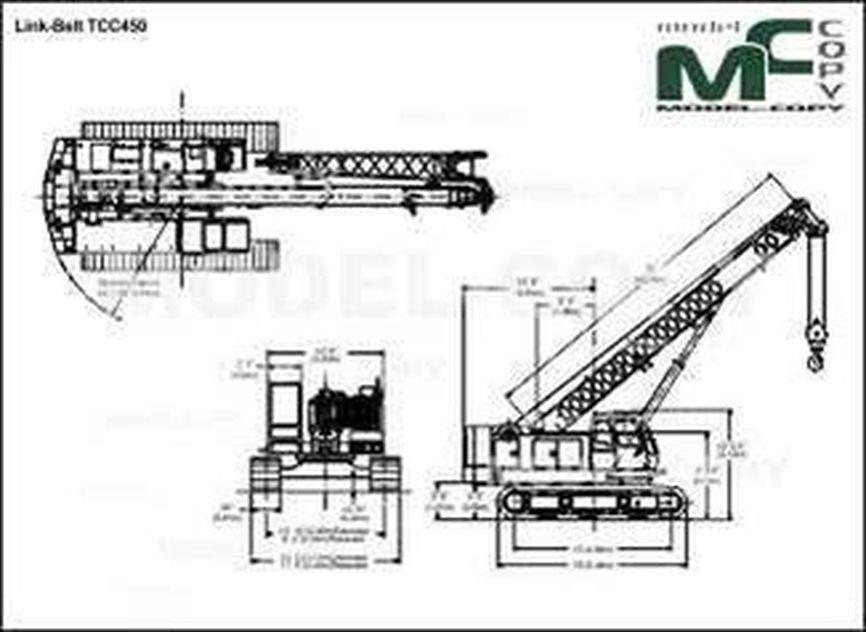Link-Belt TCС450 - Rysunek 2D