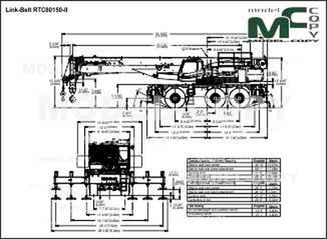 Link-Belt RTC80150-II - drawing