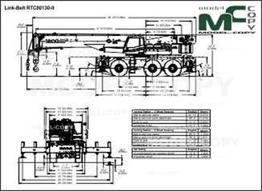 Link-Belt RTC80130-II - drawing