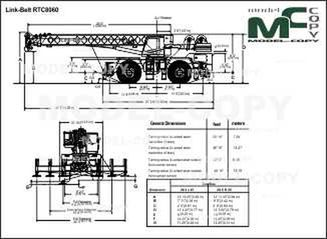 Link-Belt RTC8060 - drawing