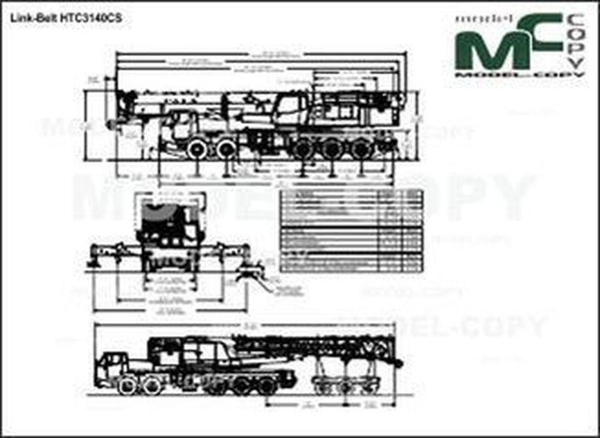 Link-Belt HTC3140CS - drawing