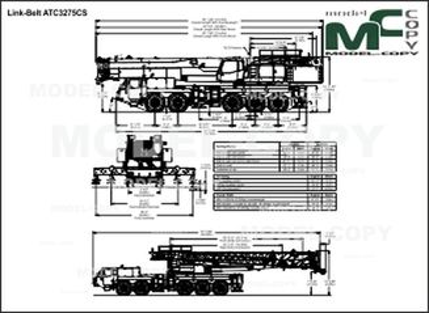 Link-Belt ATC3275CS - drawing