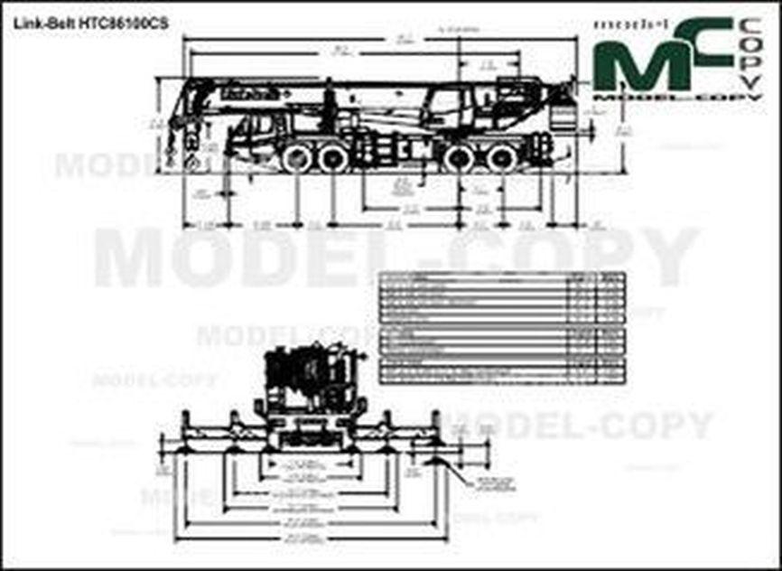Link-Belt HTC86100CS - drawing
