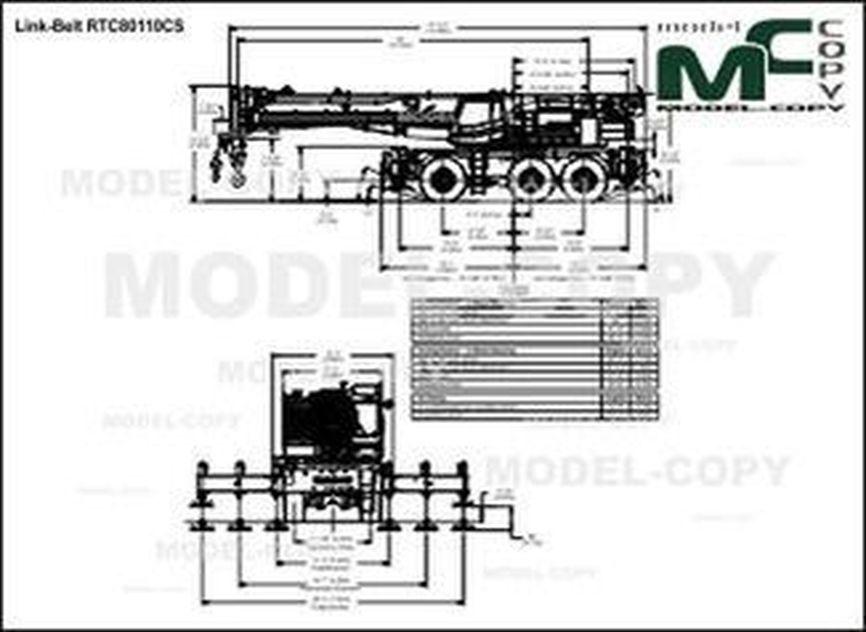 Link-Belt RTC80110CS - drawing