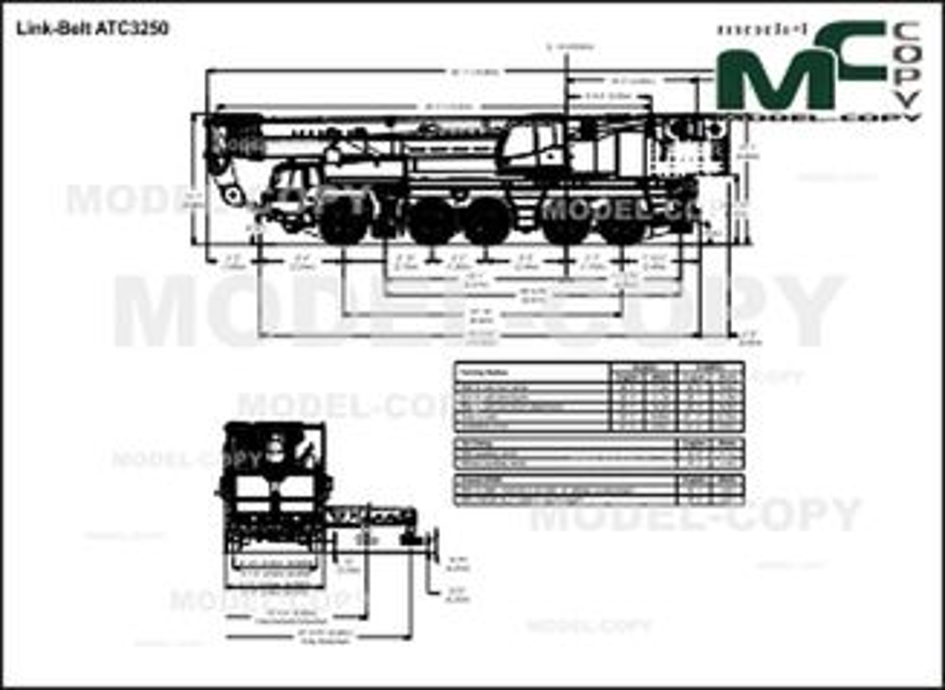 Link-Belt ATC3250 - drawing