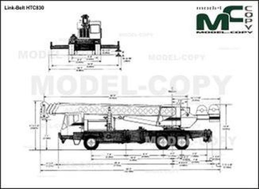 Link-Belt HTC830 - drawing