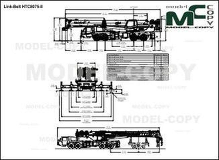 Link-Belt HTC8075-II - drawing
