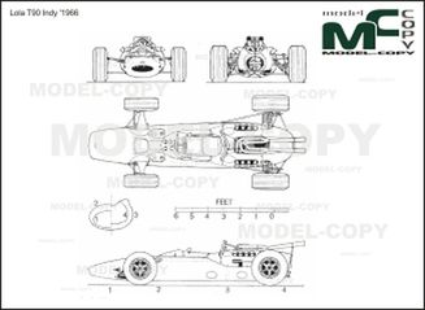 McLaren M4B '1967 - 2D drawing (blueprints)