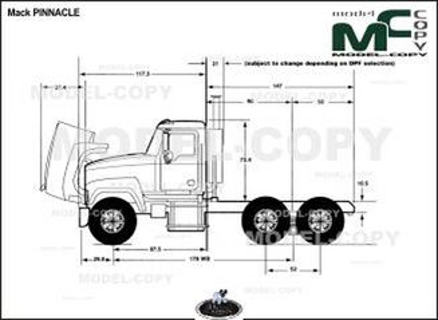 Mack PINNACLE '2013 - 2D drawing (blueprints)