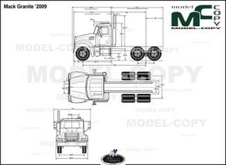 Mack Granite '2009 - drawing