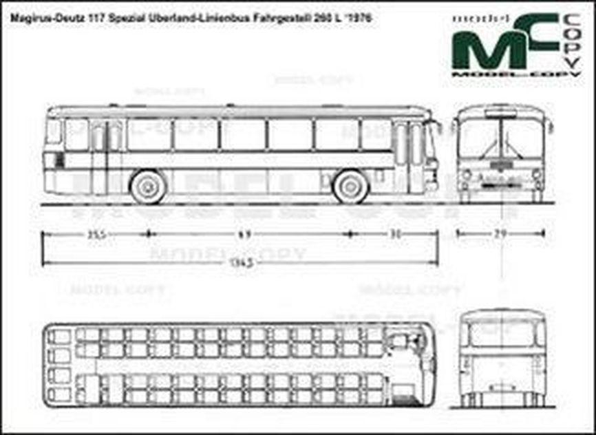 Magirus-Deutz 117 Spezial Uberland-Linienbus Fahrgestell 260 L '1976 - 2D drawing (blueprints)
