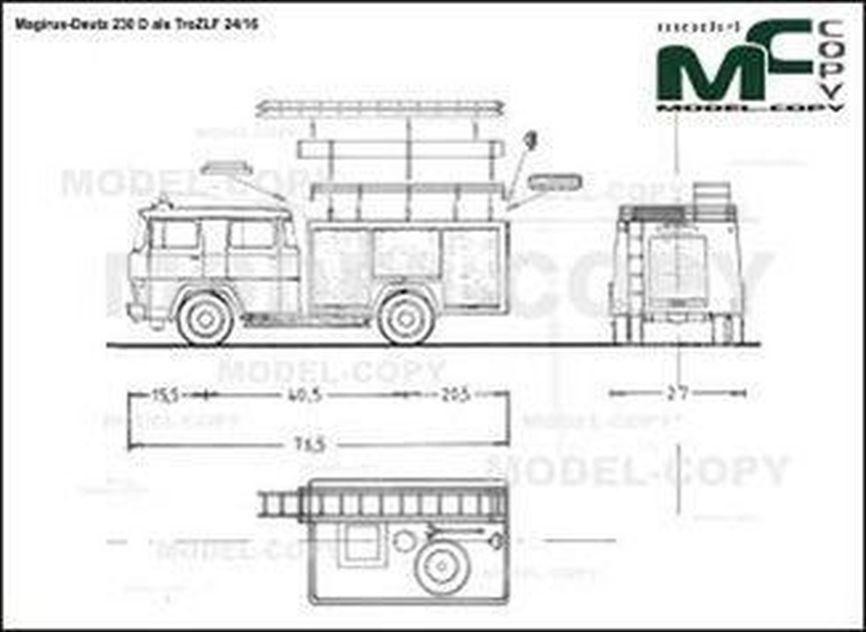 Magirus-Deutz 230 D als TroZLF 24/16 - 2D drawing (blueprints)