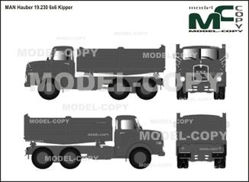 MAN Hauber 19.230 6x6 Kipper - 2D drawing (blueprints)