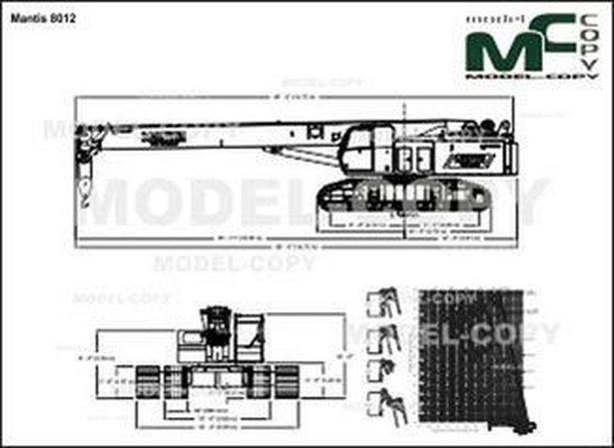 Mantis 8012 - 2D drawing (blueprints)