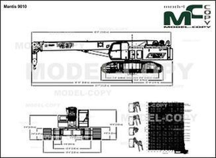 Mantis 9010 - 2D drawing (blueprints)