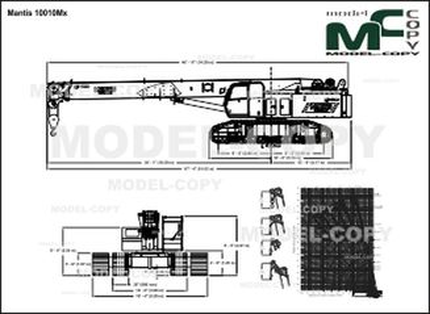 Mantis 10010Mx - 2D drawing (blueprints)