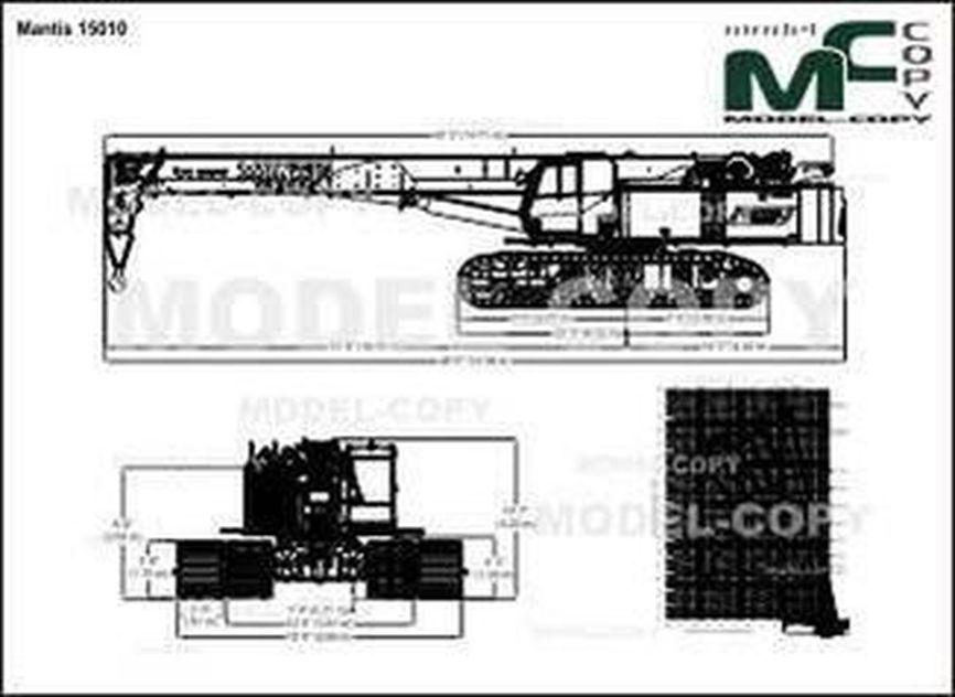 Mantis 15010 - 2D drawing (blueprints)