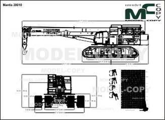 Mantis 20010 - 2D drawing (blueprints)