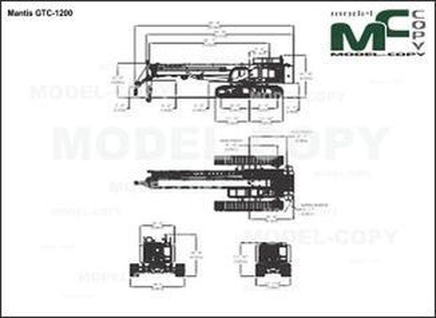 Mantis GTC-1200 - 2D drawing (blueprints)