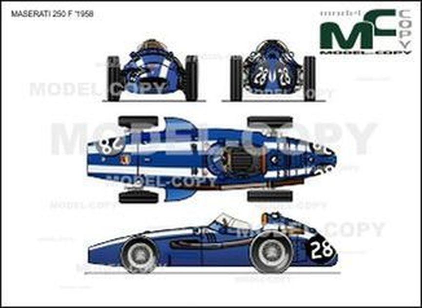 Maserati 250 F '1958 - 2D drawing (blueprints)