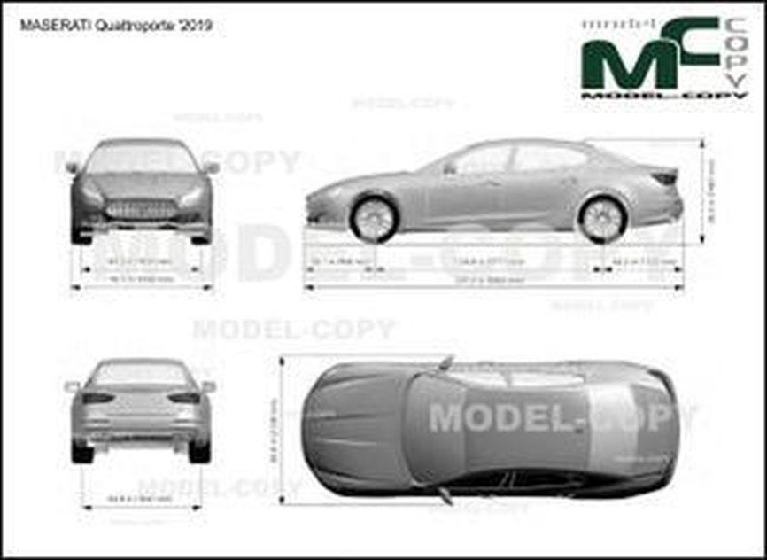 MASERATI Quattroporte '2019 - drawing