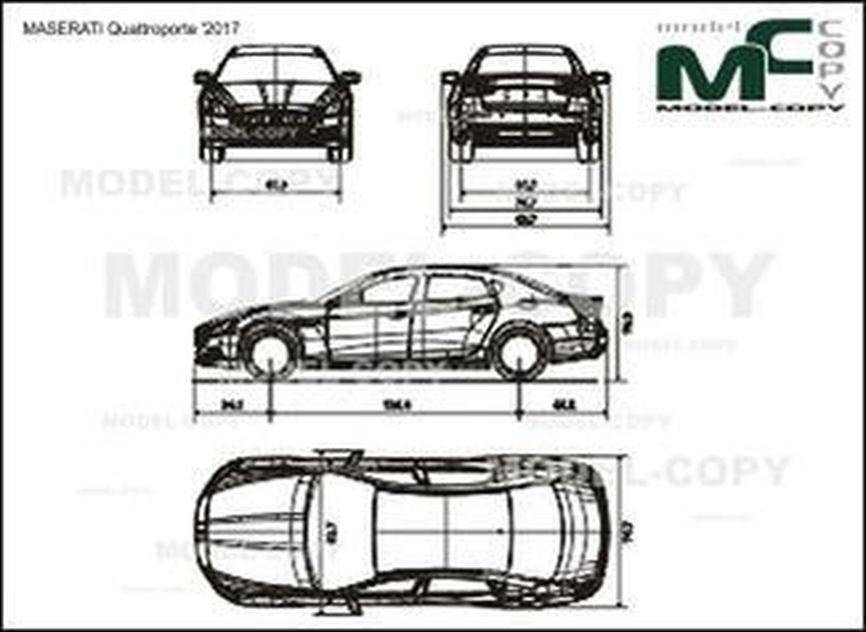 MASERATI Quattroporte '2017 - drawing