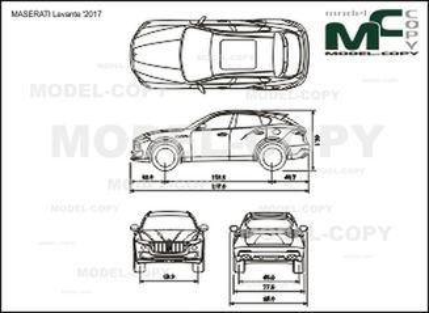 MASERATI Levante '2017 - drawing