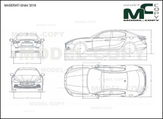 MASERATI Ghibli '2016 - drawing
