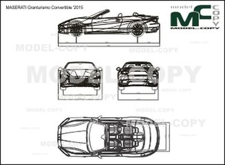 MASERATI Granturismo Convertible '2015 - drawing