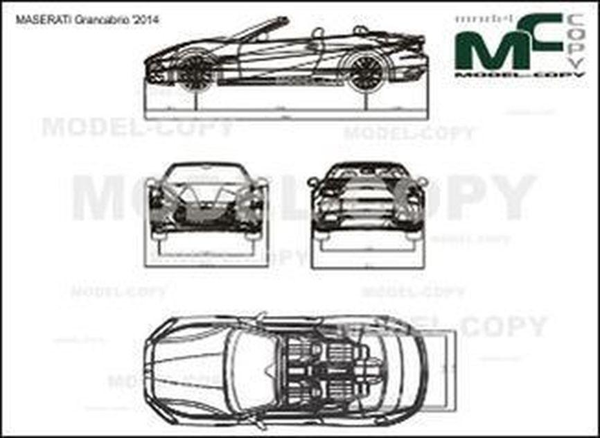 MASERATI Grancabrio '2014 - drawing
