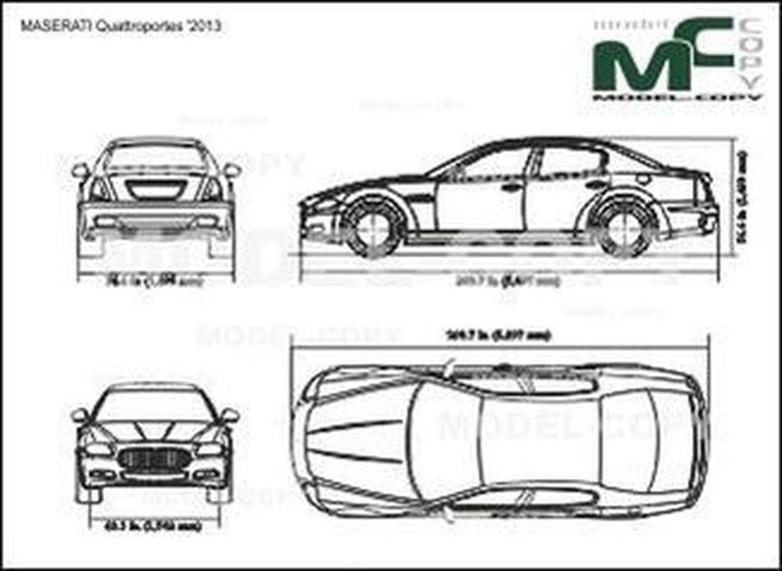 MASERATI Quattroportes '2013 - drawing