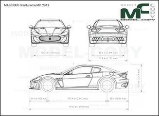 MASERATI Granturismo MC '2013 - drawing