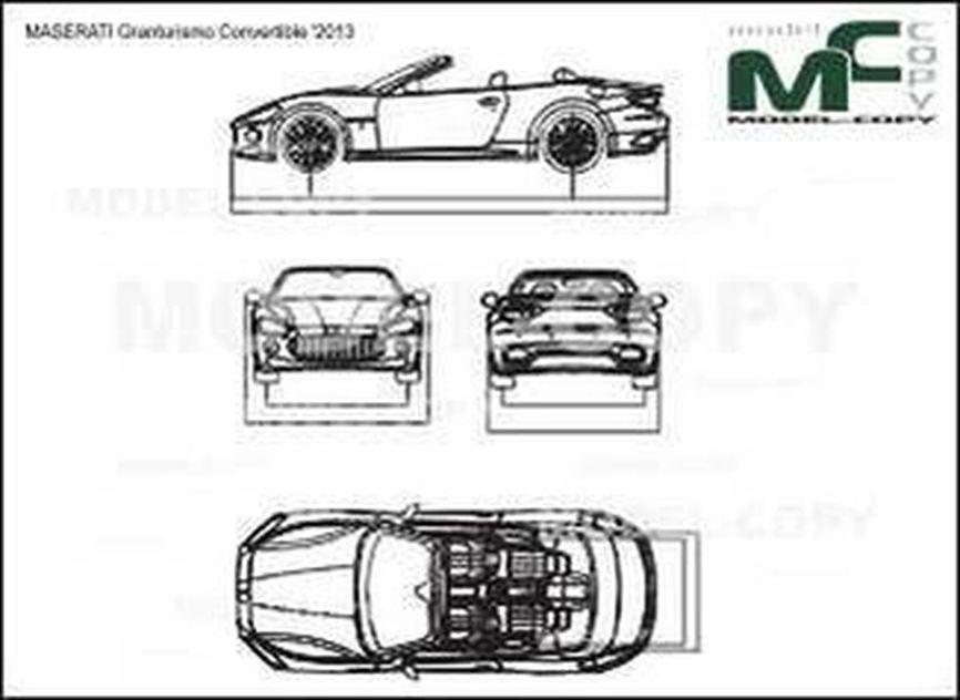MASERATI Granturismo Convertible '2013 - drawing