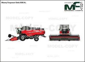 Massey Fergusson Delta 9380 AL - drawing