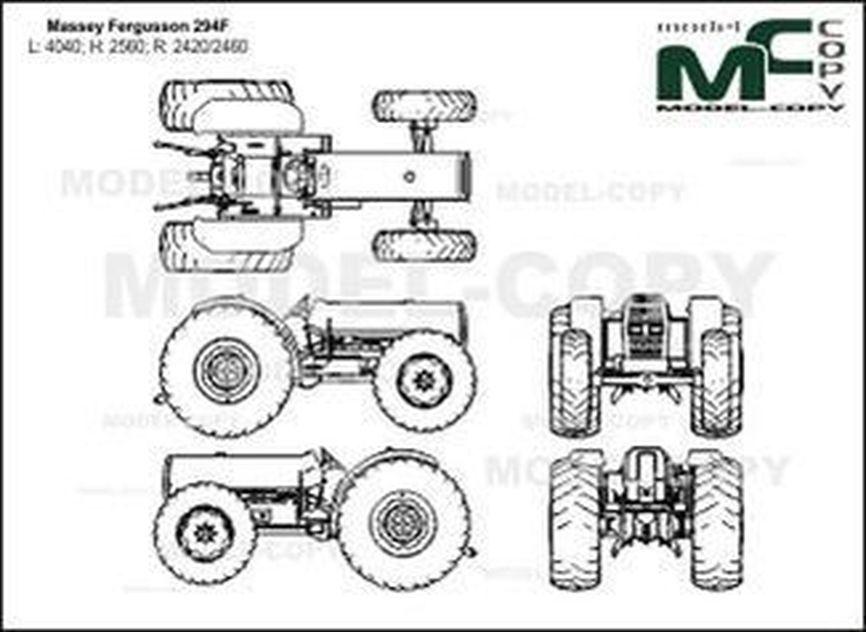 Massey Ferguson 294F - drawing