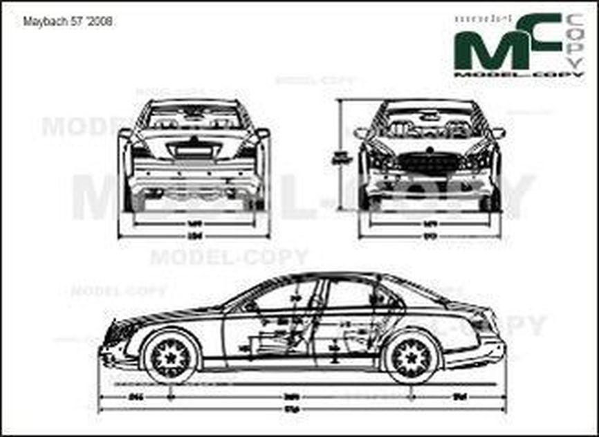 Maybach 57 '2008 - 2D drawing (blueprints)