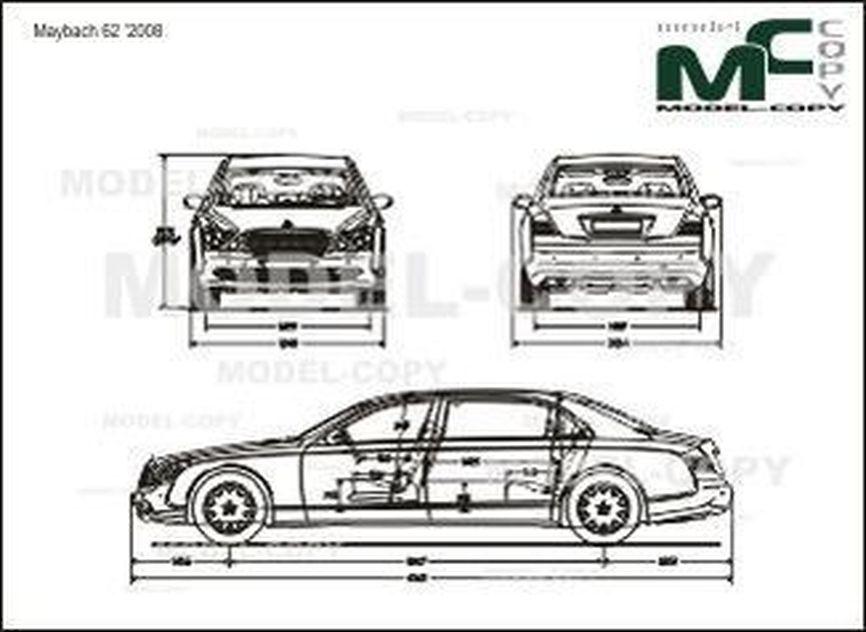 Maybach 62 '2008 - 2D drawing (blueprints)