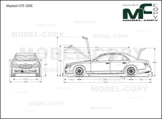 Maybach 57S '2005 - 2D drawing (blueprints)
