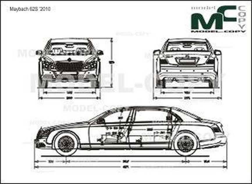 Maybach 62S '2010 - 2D drawing (blueprints)